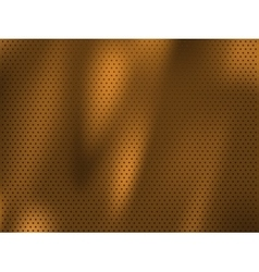 Circle perforated golden metal background vector