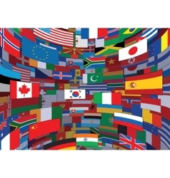 World flags backdrop background vector