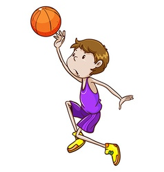 A simple sketch of a basketball player vector image