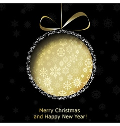 Abstract golden Christmas ball vector image