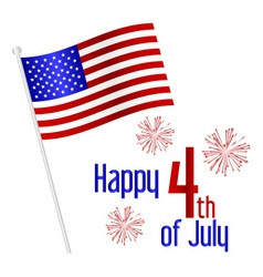American independence day celebration with flag vector