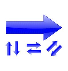 Arrows set of blue web signs vector