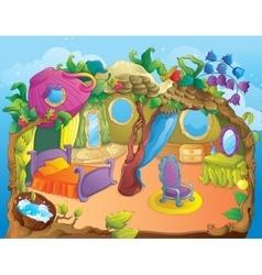 Beauty fairytale fairy bedroom vector