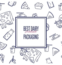 Best dairy product seamless pattern vector image vector image