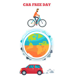 Car free day symbol vector