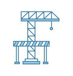 Crane construction with barricade vector