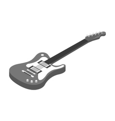 Electric guitar icon in monochrome style isolated vector