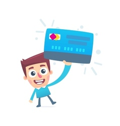 Everyone has a debit card vector