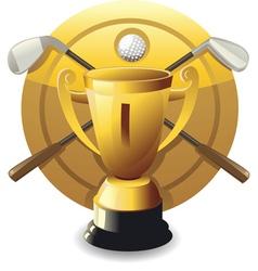 golf award vector image vector image