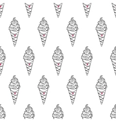 Ice Cream Easy Pattern Linear-16 vector image