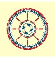 Lifebuoy symbol grunge vector image vector image