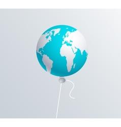 modern earth ballon vector image vector image