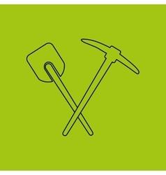 Mountain climbing shovel equipment vector