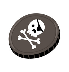 Pirate black mark icon vector