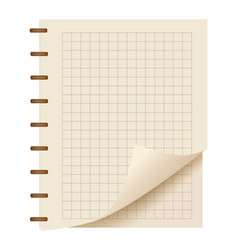 realistic square notebook sheet element vector image