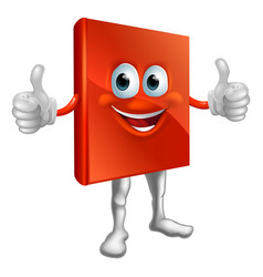 Red book man doing thumbs up vector