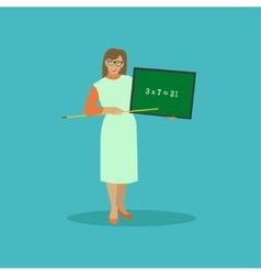 School teacher with chalkboard vector image vector image