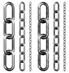 Set of metal chain vector image