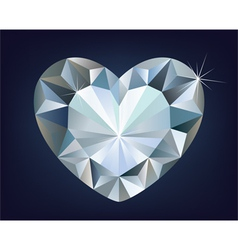 shiny diamond heart vector image
