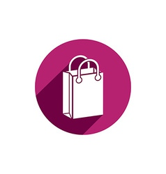 Shopping bag icon isolated vector image vector image