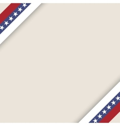 stars and stripes ribbons background vector image