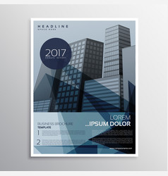 Stylish blue presentation brochure leaflet design vector