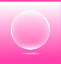 Water bubble with pink background vector