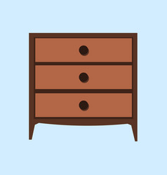 wooden light brown chest of drawers made of vector image