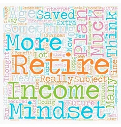 Your age determines your retirement income mindset vector