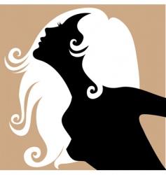Blond girl vector