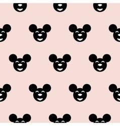 Black hipster mouse kid scandinavian pattern vector