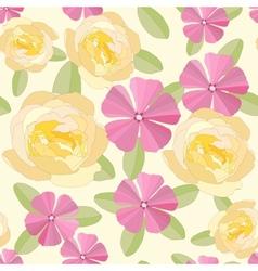 Garden flowers ornate frame background vector image