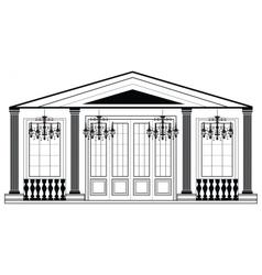 Architectural facade vector