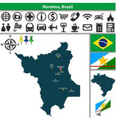 Map of roraima brazil vector