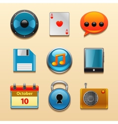 Icons for web and mobile applications set vector