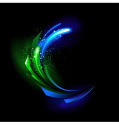 Glow green crystal vector