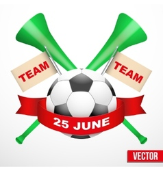 Sporting poster with soccer ball vector