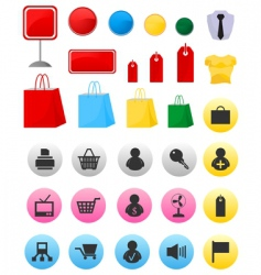 Icons of sales vector