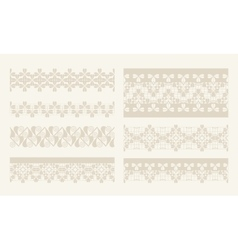Lacy vintage design elements lace seamless vector