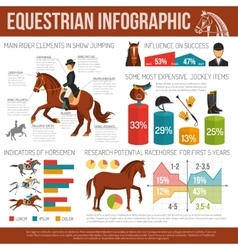 Equestrian sport infographic vector