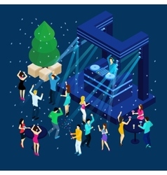 People celebrating new year vector