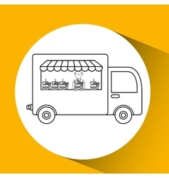Food delivery design vector