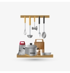 Kitchen design supplies icon white background vector