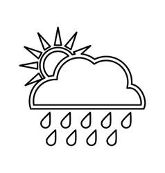 Sun design isolated weather icon graphic vector