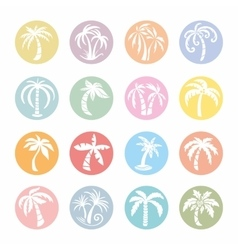 Palm tree icons vector