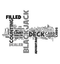 Advanced blackjack strategy text word cloud vector
