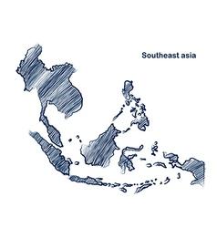 Asean map vector image vector image