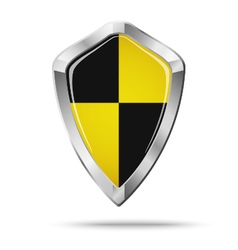 Black and yellow shield security concept vector