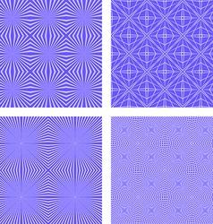 Blue seamless line pattern background set vector