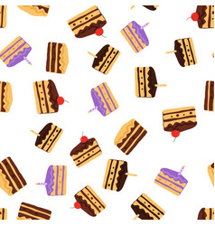 Cake pattern seamless background vector